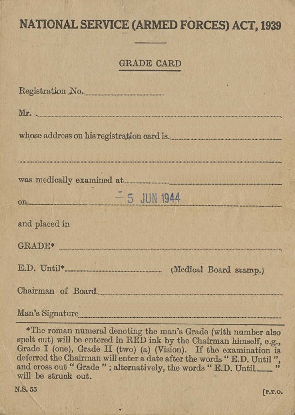 Medical Card (N.S. 55)