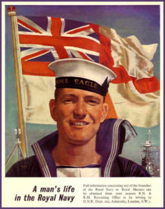 Royal Navy recruiting poster from 1940